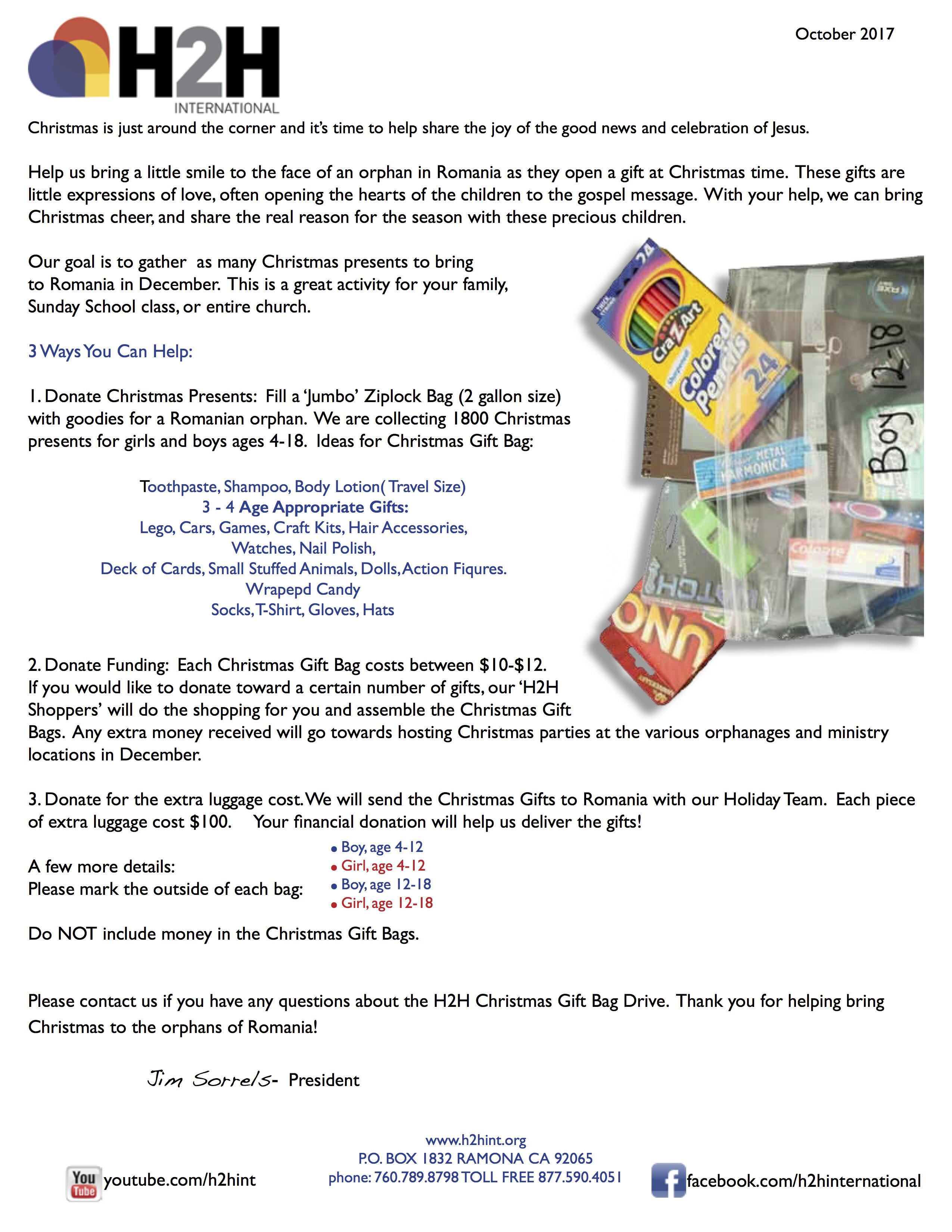 Christmas Presents for Romanian Orphans | Wave Church SD